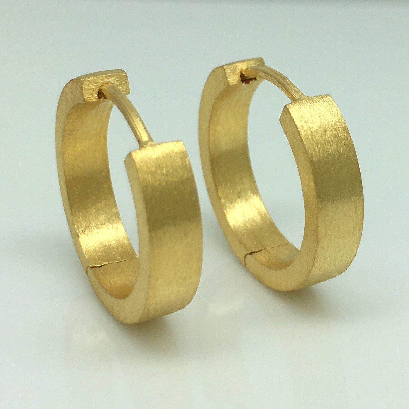 Fashion week Hoop gold earrings for men for woman