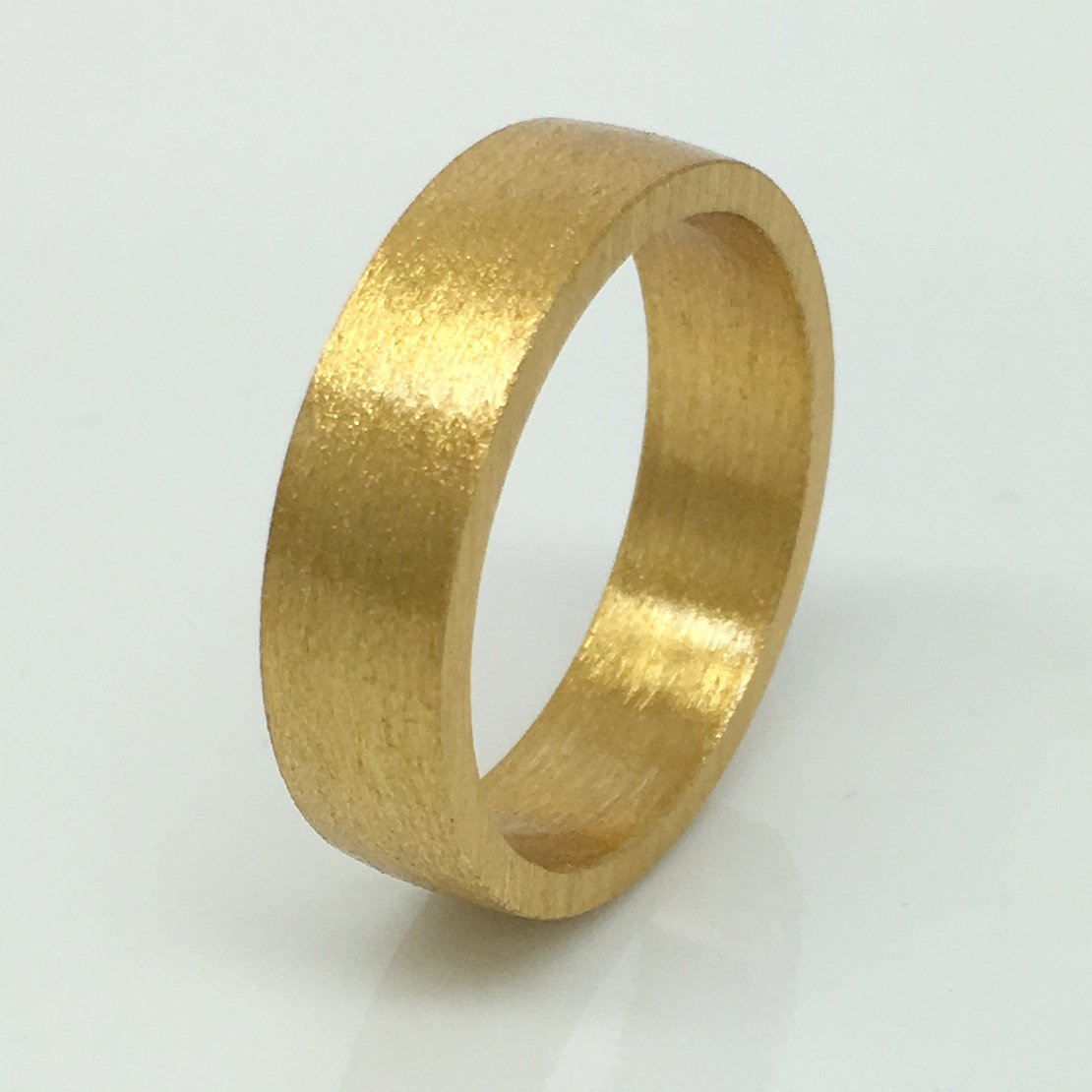Men's wedding band, 6mm yellow gold plated, sterling silver