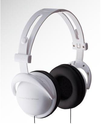 White Headphone with black writing