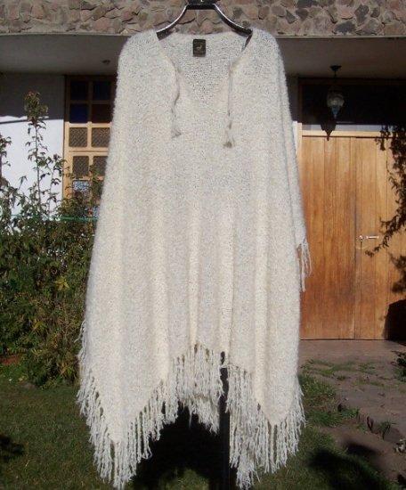 Beautiful boucle alpaca wool poncho