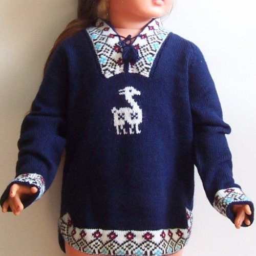Lot of 10 alpaca wool sweaters for kids