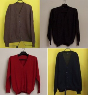 Lot of 10 Men's alpaca wool cardigan