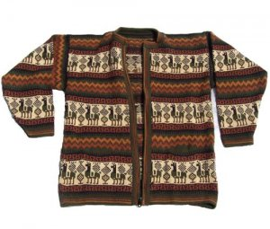 Lot of 10 alpaca sweaters adorned with Peruvian motives