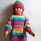 Lot of 10 sets for kids: sweater + hat + gloves
