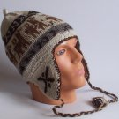 Lot 10 ear flap hat (2 sides) Adult size, Hat, cap, Alpaca Wool
