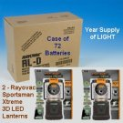 2 - Rayovac LED lantern 3 D Sportsman Extreme SE3DLN and Case of 72 D cell batteries Combo pack
