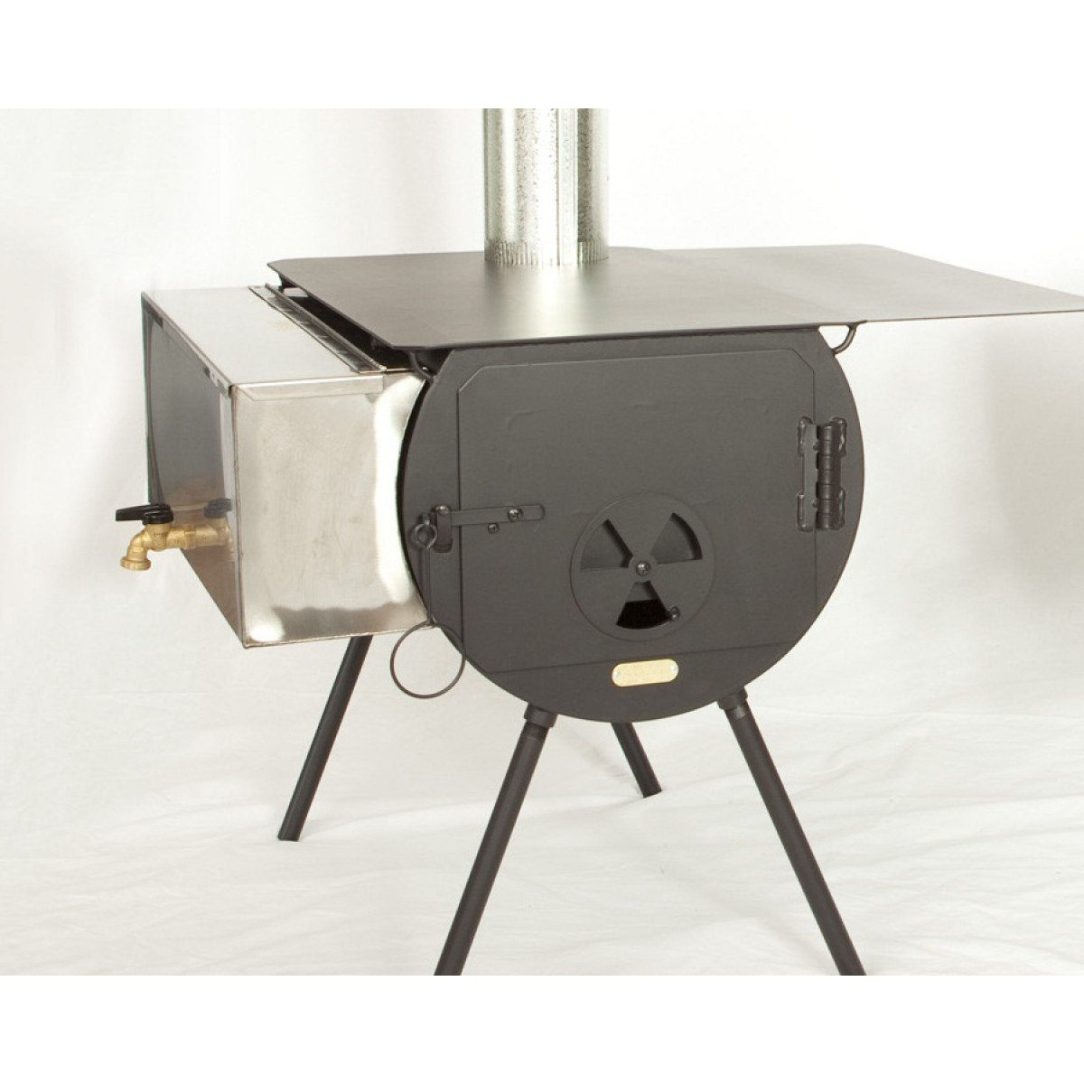 Outfitter Stove Package Cylinder Tent Stove (with Grate)