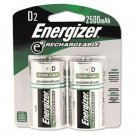 ENERGIZER e² NiMH Rechargeable Batteries, D, 2/pack - EVENH50BP2
