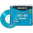 "Sony 3"" Rewritable DVD+RW for Camcorders - 3pk (3DPW30L2H)"