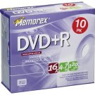 Memorex Disc DVD+R 4.7GB 10/pk Slim