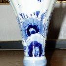 """Delph Blue and White 6"""" Vase"""