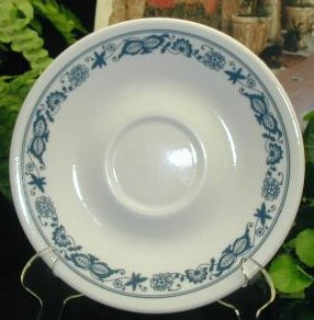OLD TOWN BLUE Onion Corning Ware Corelle Saucer