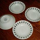 4 Homer Laughlin Black Diamond Berry Bowls