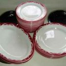 Jackson China Restaurant Wear Red and White Platter
