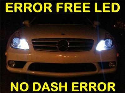 No-Error HID-WHITE LED Parking Bulbs E500/E550/E350/E63