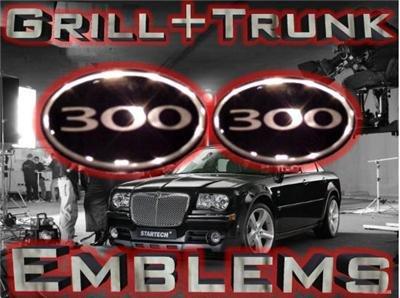 """300"" Chrome GRILL+TRUNK WING EMBLEM! Chrysler 300/300C"
