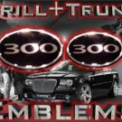 """300"" Chrome GRILL+TRUNK WING EMBLEM! Chrysler 300/300C"