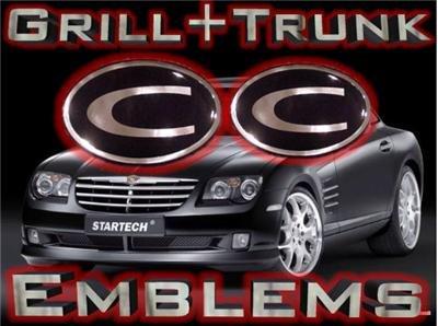 """C"" GRILL+TRUNK WING EMBLEM! Chrysler Crossfire 04-08+"