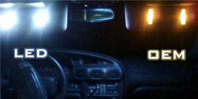 """LED """"Visor"""" BULB KIT! Honda Civic 08-09 2008-2009-2010"""