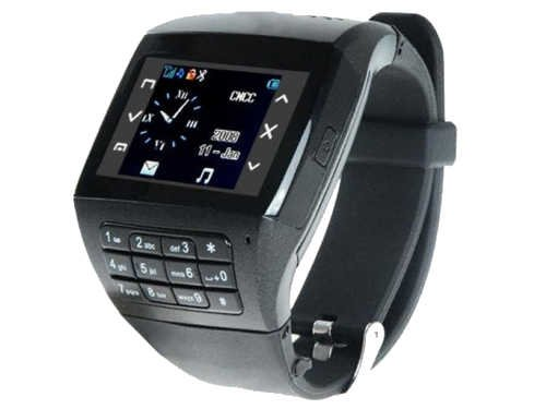 Watch Cell Phone Q8 - Dual Sim Quad Band Mobile Watch with Pinhole camera