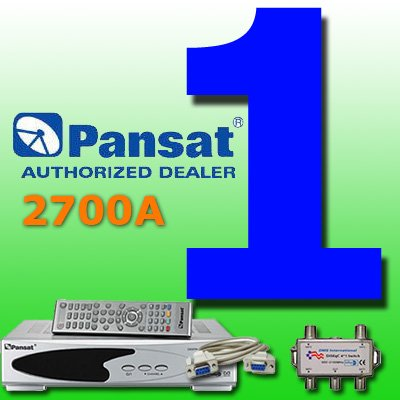 1 UNIT: Pansat 2700A Receiver (B-75 Flashed)