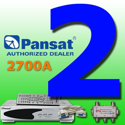 2 UNIT: Pansat 2700A Receiver B-75