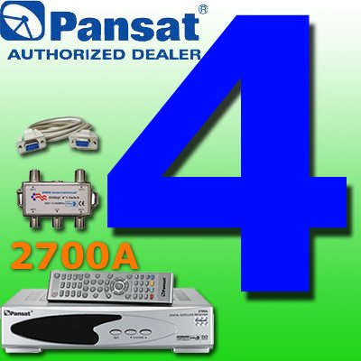 4 UNIT: Pansat 2700A Receiver B-75