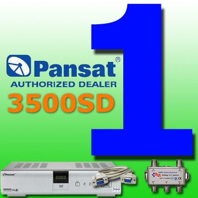 1 UNIT: Pansat 3500SD Receiver (B-80 Flashed)