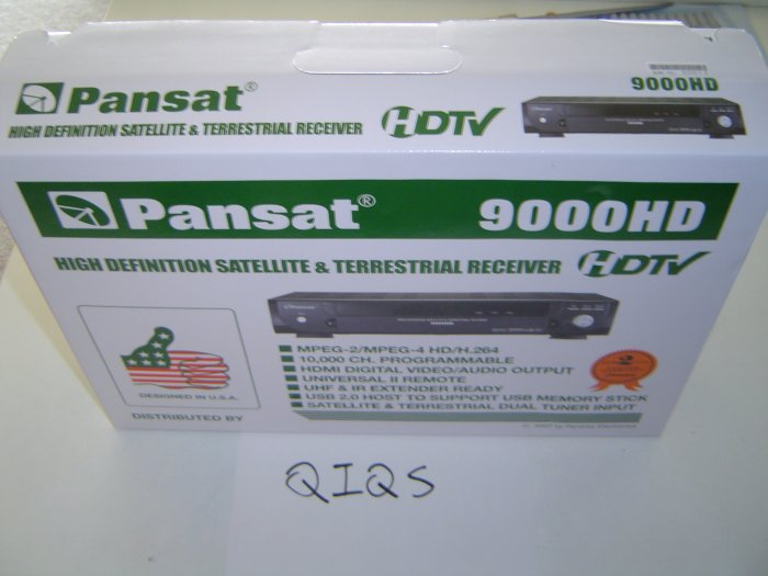 (Open box) Pansat 9000 High Definition - All Accessories Included