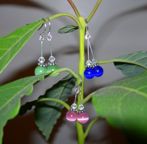 Drop crystal earrings (different colors too!)