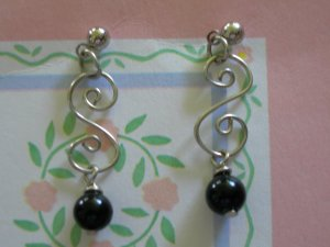 Swirly earrings