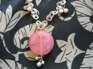 Pink Pearl Twirl Pendant