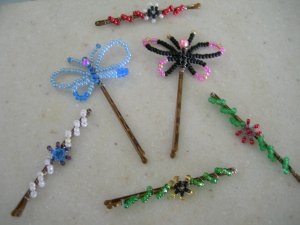 Beaded Bobbi Pins