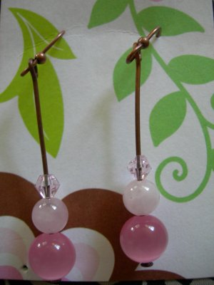 Pink stacker Earrings