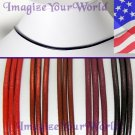 RED Leather Cord Necklace 2mm CUSTOM 24 inches (or less)