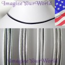 WHITE off white Leather Cord Necklace 2mm CUSTOM 24 inches (or less)