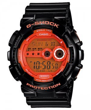 Casio G-Shock GD100HC-1 men's watch Black & Orange | wolfecouture