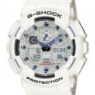 Casio G-Shock GA100A-7A men's watch White | wolfecouture