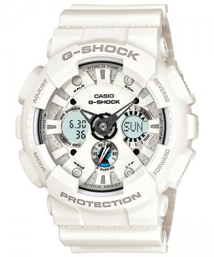 Casio G-Shock GA120A-7 men's watch White | wolfecouture