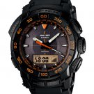 Casio ProTrek PRG550-1A4 Solar Powered Triple Sensors men's watch Black | wolfecouture