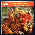 """LOUIS ARMSTRONG  """" Jazz Classics """"  1960 LP"""