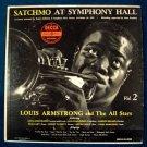 """LOUIS ARMSTRONG  """" Satchmo At Symphony Hall """"  1960 Jazz LP"""
