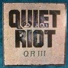 "QUIET RIOT      "" QR III ""     1986 Thrash Metal LP"