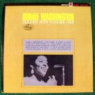 "DINAH WASHINGTON   "" Golden Hits Vol 1 ""   1963 Blues/R&B LP"