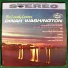 "DINAH WASHINGTON   "" For Lonely Lovers ""   1961 Blues/R&B LP"