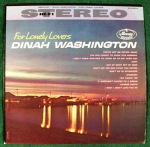 DINAH WASHINGTON &quot For Lonely Lovers &quot 1961 Blues R&B LP