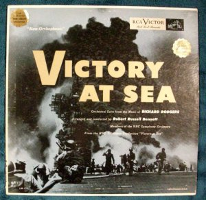 VICTORY AT SEA Volume 1 1954 LP quot;Red Sealquot;