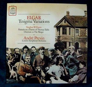 ELGAR Enigma Variations WILLIAMS The Wasps 1980 Previn LP
