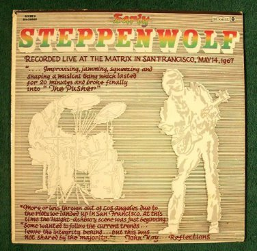 "STEPPENWOLF  ~  "" Early Steppenwolf ""    1969 Vintage Rock LP  (Sparrow)"