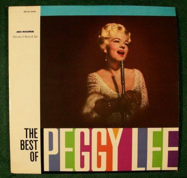 "PEGGY  LEE       "" The Best of Peggy Lee ""      1980 Double Album LP"
